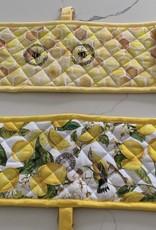 MICHEL DESIGNS Lemon Basil Double Oven Glove