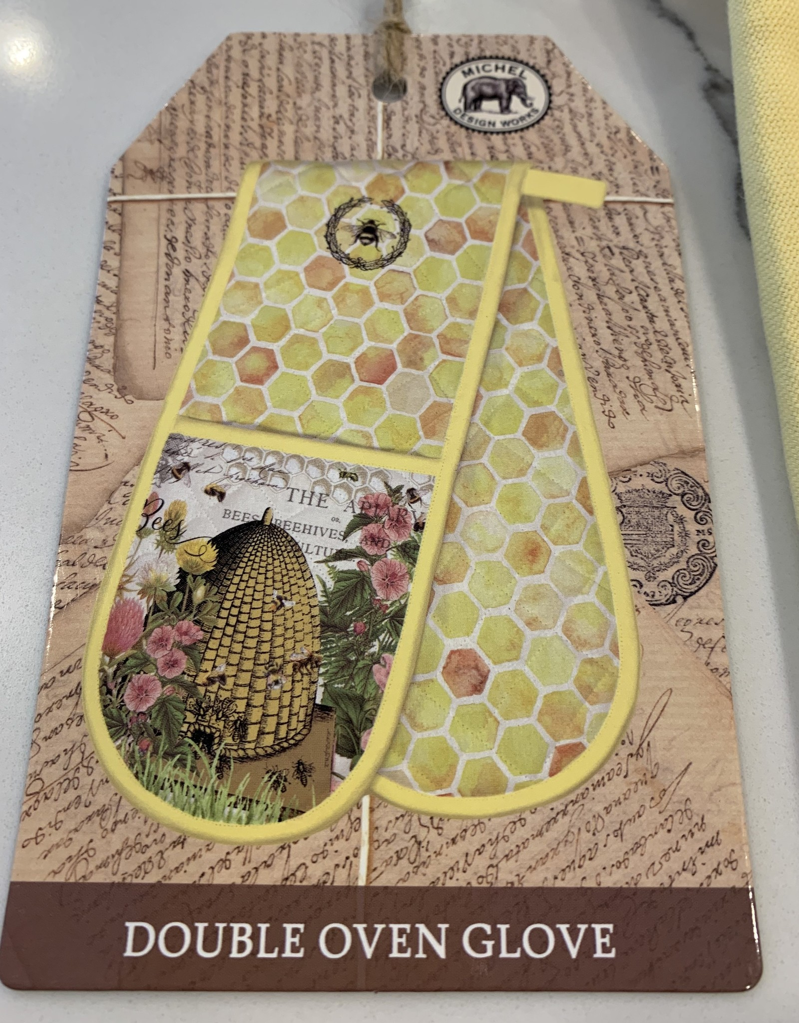 MICHEL DESIGNS Honey and Clover Doble Oven Glove