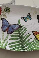 MICHEL DESIGNS Pappillon Butterfly Oval Melamine Serving Platter