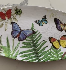MICHEL DESIGNS Pappillon Butterfly Oval Melamine Serving Platter