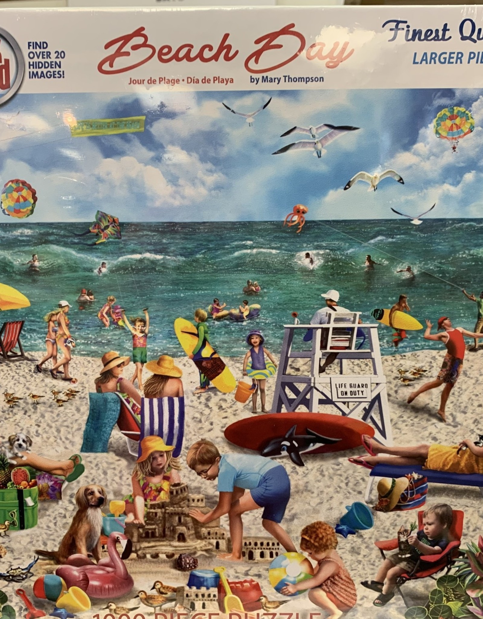 WHITE MOUNTAIN PUZZLES, INC. 1000 pc Beach Day-Seek & Find Puzzle