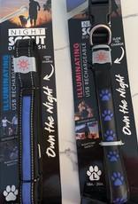 D.M. MERCHANDISING INC. Blue USB Rechargeable Dog Leash