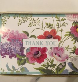 CASPARI Thank You Notecards - Edwardian Garden Ivory