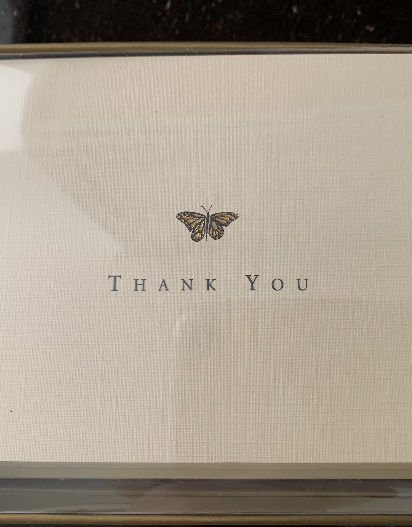 PETER PAUPER PRESS Thank You Notecards - Gold Butterfly
