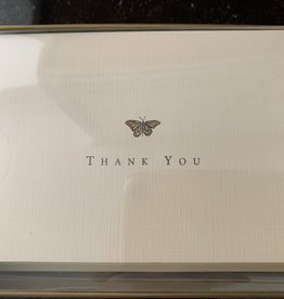 PETER PAUPER PRESS Thank You Notecards - Gold Butterfly