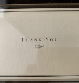 PETER PAUPER PRESS Thank You Notecards - Black and Cream