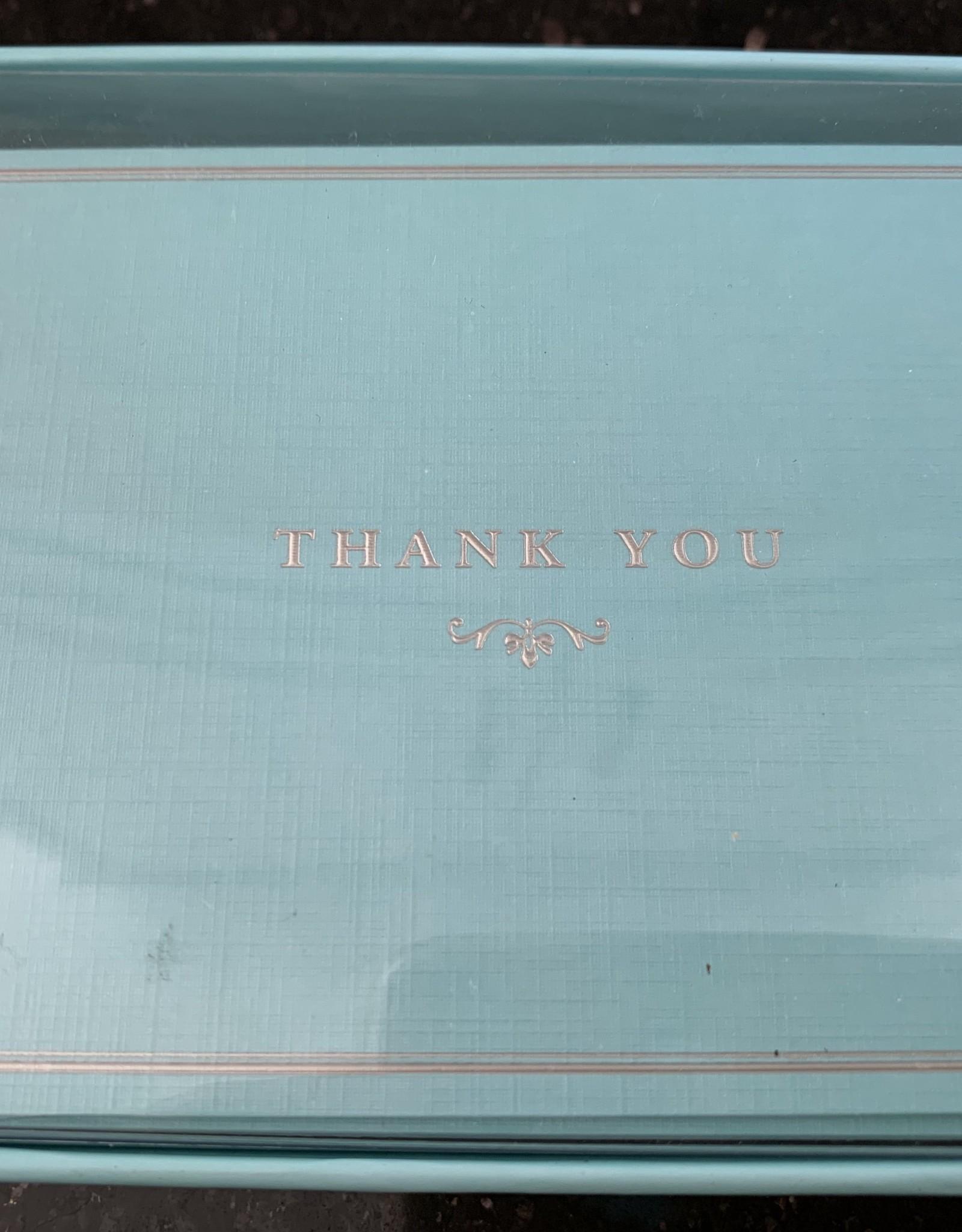 PETER PAUPER PRESS Thank You Notecards - Blue Elegance