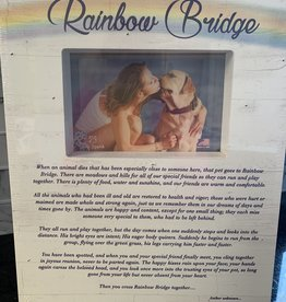 DOG SPEAK Rainbow Bridge Pet Sympathy Frame