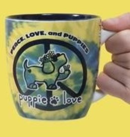 PAVILION Peace Love Puppies Puppie Love Mug
