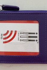 INTERCONTINENTAL LEATHER IND RFID Credit Card Holder with Zipper