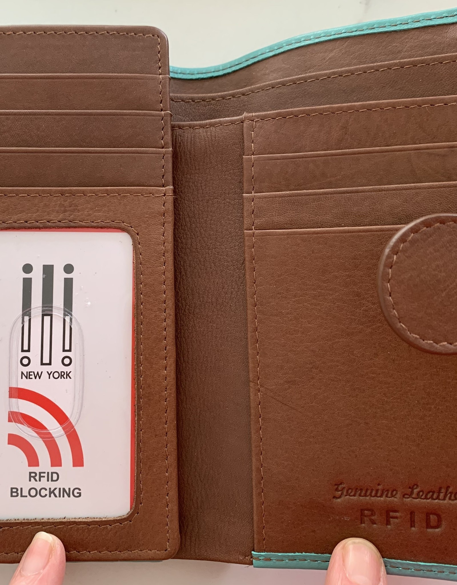 INTERCONTINENTAL LEATHER IND RFID Trifold Leather Wallet