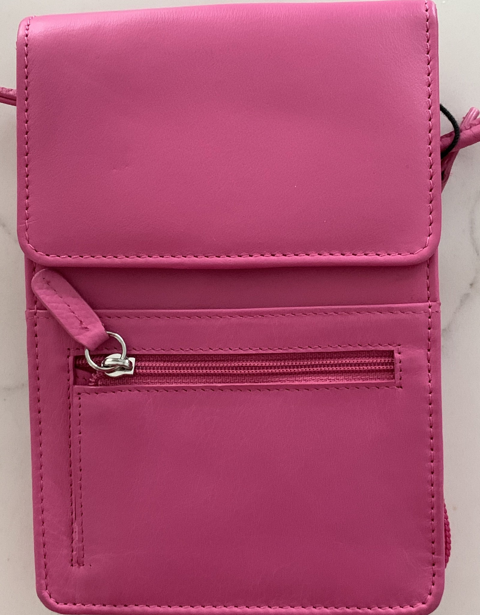 INTERCONTINENTAL LEATHER IND Leather Front Flap Crossbody Purse