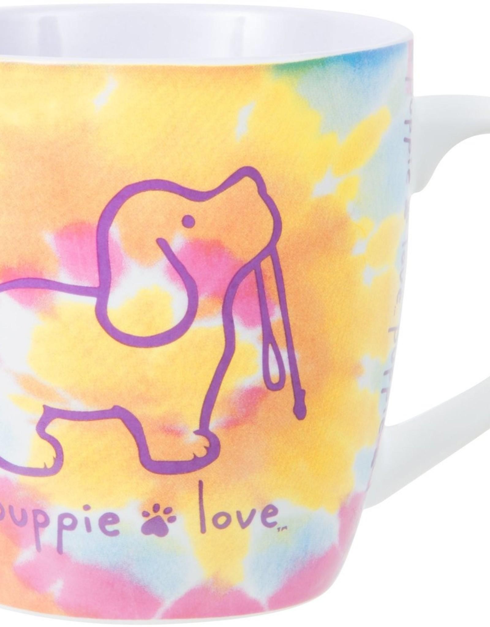 PAVILION Tie Dye Puppie Love Mug