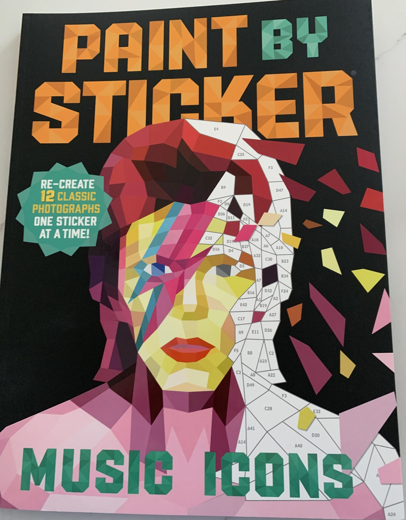 WORKMAN PUBLISHING Paint by Sticker Book: Music Icons