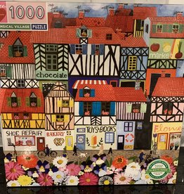 EEBOO 1000 pc Whimsical Village Puzzle