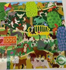 EEBOO 1000 pc Dogs in the Park Puzzle