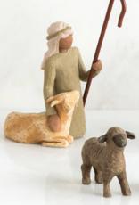 DEMDACO WILLOW TREE - SHEPHERD & STABLE ANIMALS