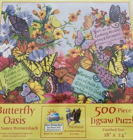 SUNSOUT, INC 500 pc Butterfly Oasis Puzzle