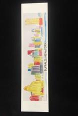BOB GREGG Buffalo Colored Skyline Magnet