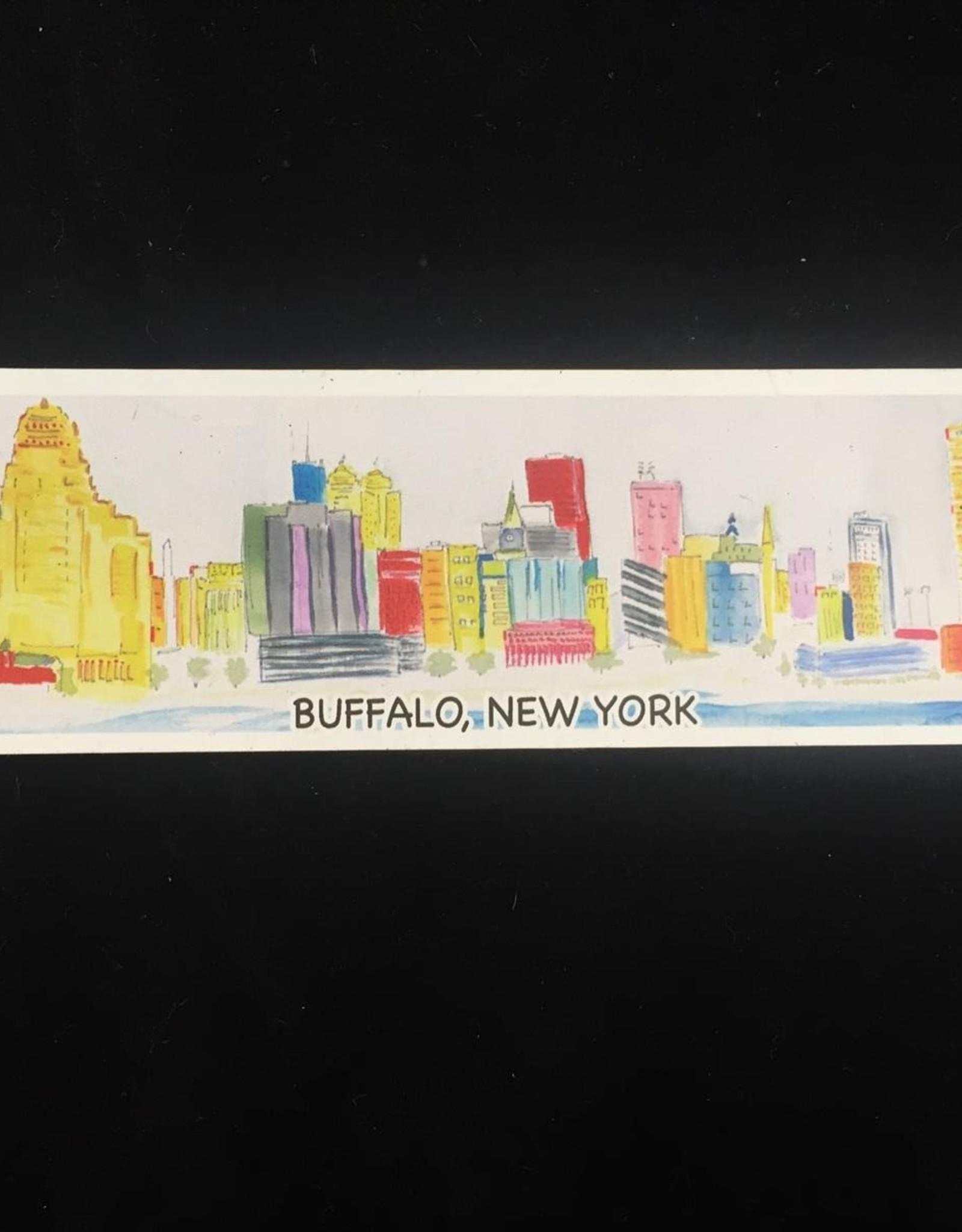 Buffalo Colored Skyline Magnet