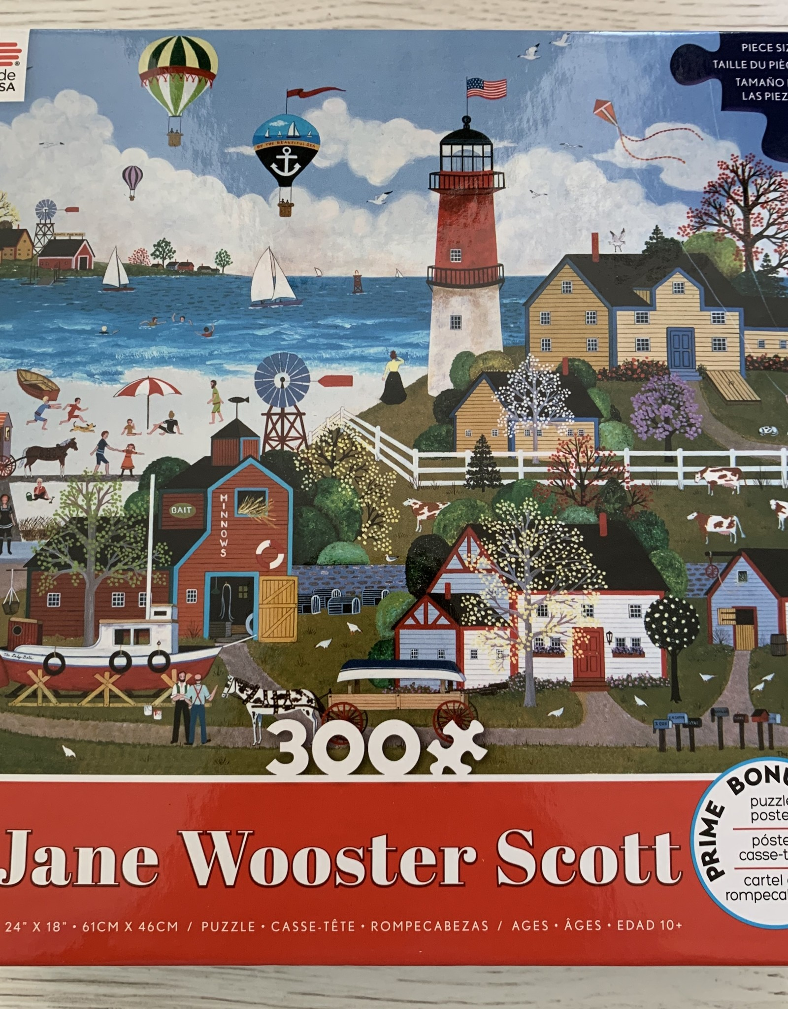 CEACO 300 pc Jane Wooster Scott Lighthouse Puzzle