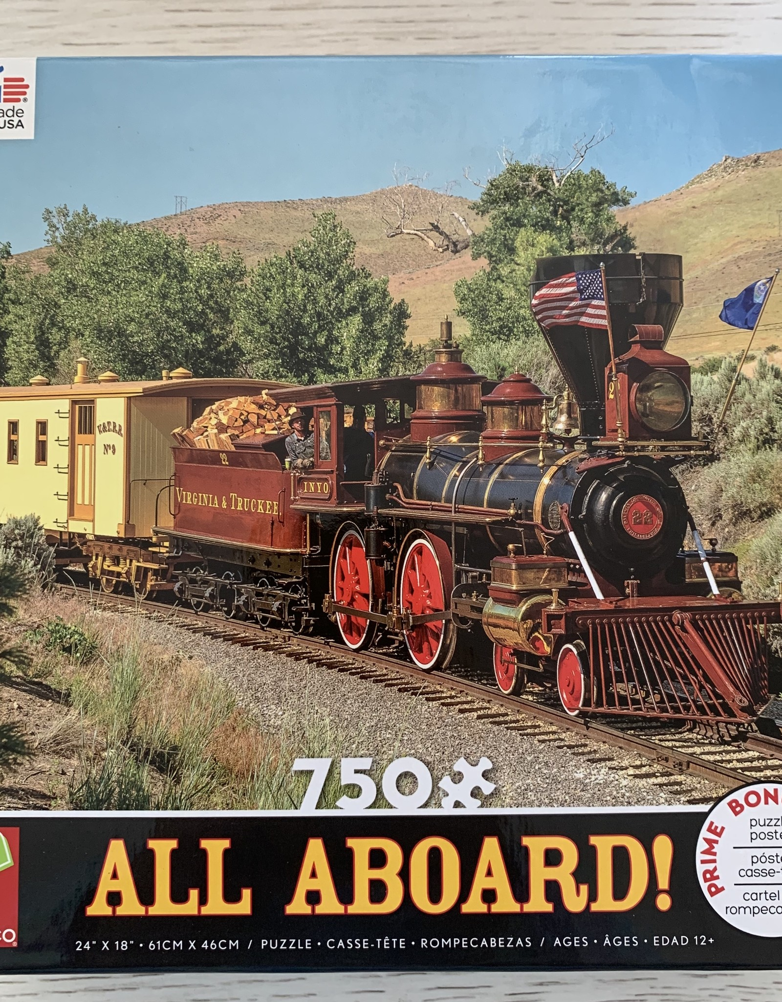 CEACO 750 pc Virginia & Truckee Train Puzzle