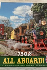 CEACO 750 pc Yellow Caboose Train Puzzle