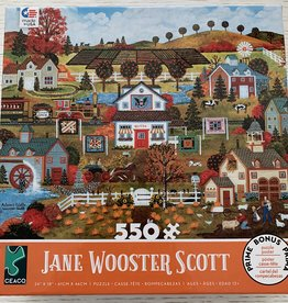 CEACO 550 pc Jane Wooster Scott  Fall Village Puzzle