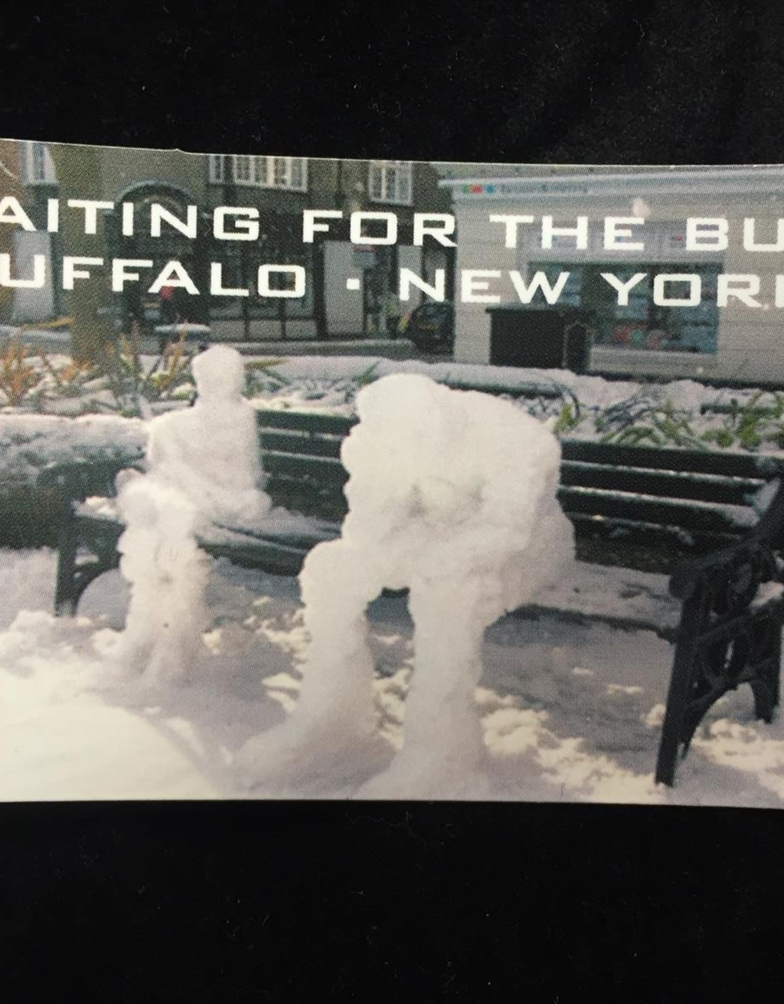 Buffalo Collection Waiting For The Bus in Buffalo, NY Magnet