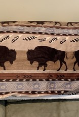 CARSTEN'S ENTERPRISES Buffalo Plush Sherpa Throw Blanket