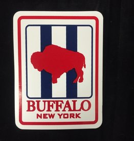 TERRANOVA  ACTIVEWEAR Red, White, Blue Buffalo Bumper Sticker