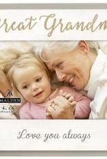 MALDEN INTERNATIONAL DESIGNS Great Grandma Love You Always Frame