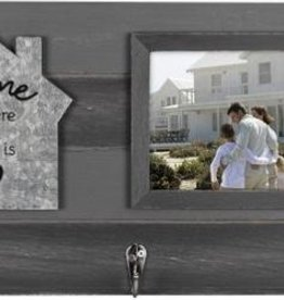 MALDEN INTERNATIONAL DESIGNS Home is Where the Heart Is Frame and Key Holder