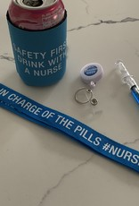 ABOUT FACE DESIGNS Nurse in charge of pills lanyard