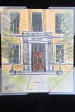 BOB GREGG Kenmore West Watercolor Plaque