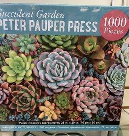 PETER PAUPER PRESS 1000 pc Succulent Garden Puzzle
