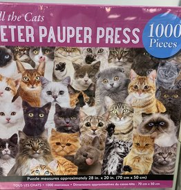 PETER PAUPER PRESS 1000 pc All the Cats Puzzle