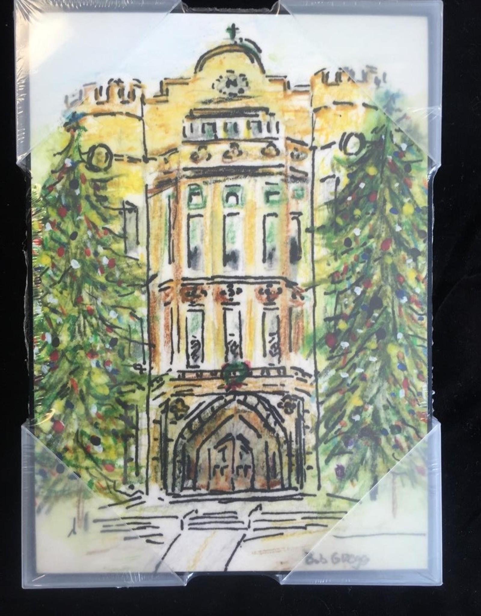 BOB GREGG Nardin Academy Watercolor Plaque