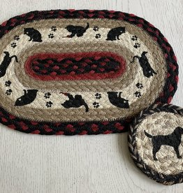 CAPITOL IMPORTING CO Cat Oval Woven Trivet