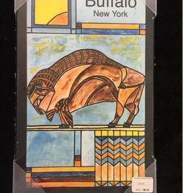 BOB GREGG Prairie Buffalo Watercolor Plaque