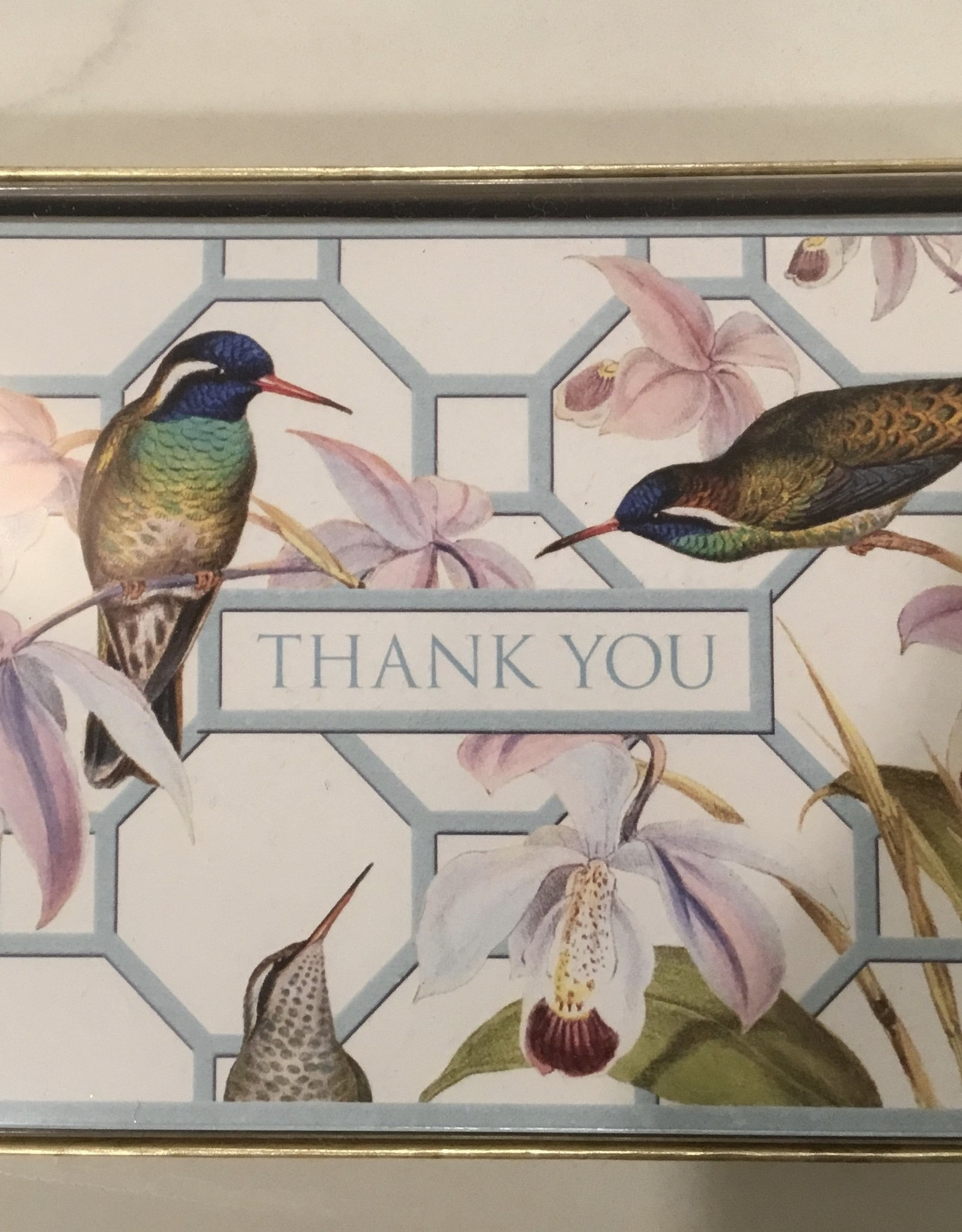 CASPARI Thank You Notecards - Hummingbird Trellis