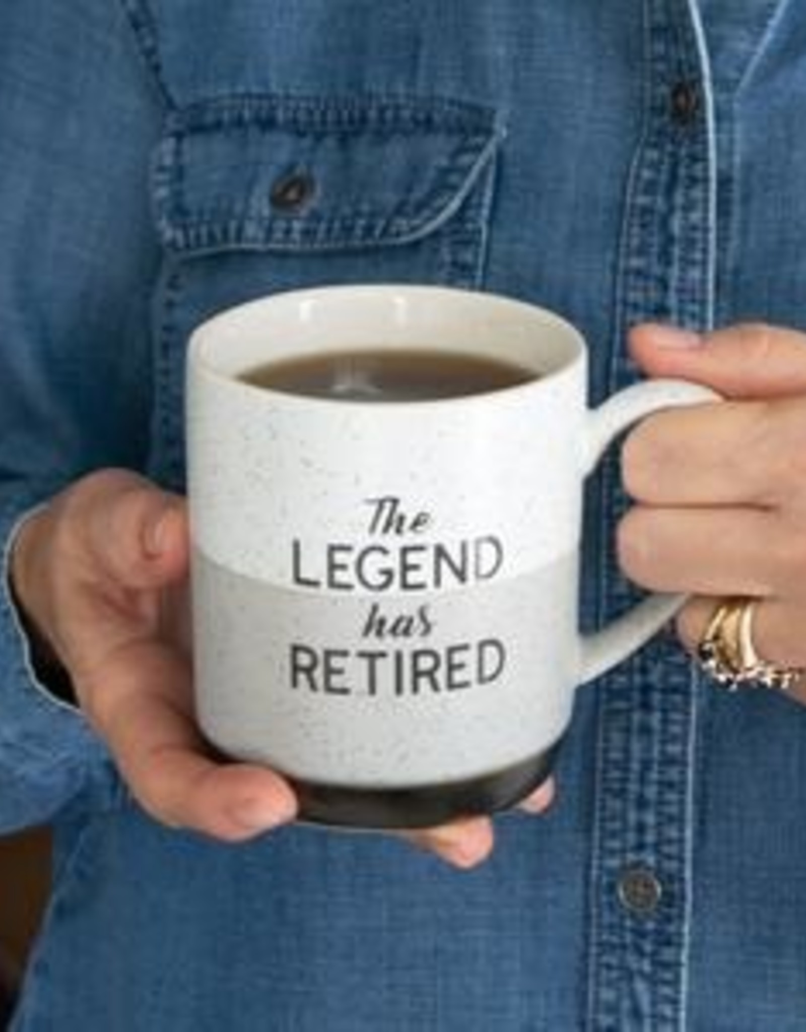 ABOUT FACE DESIGNS Legend Has Retired Mug