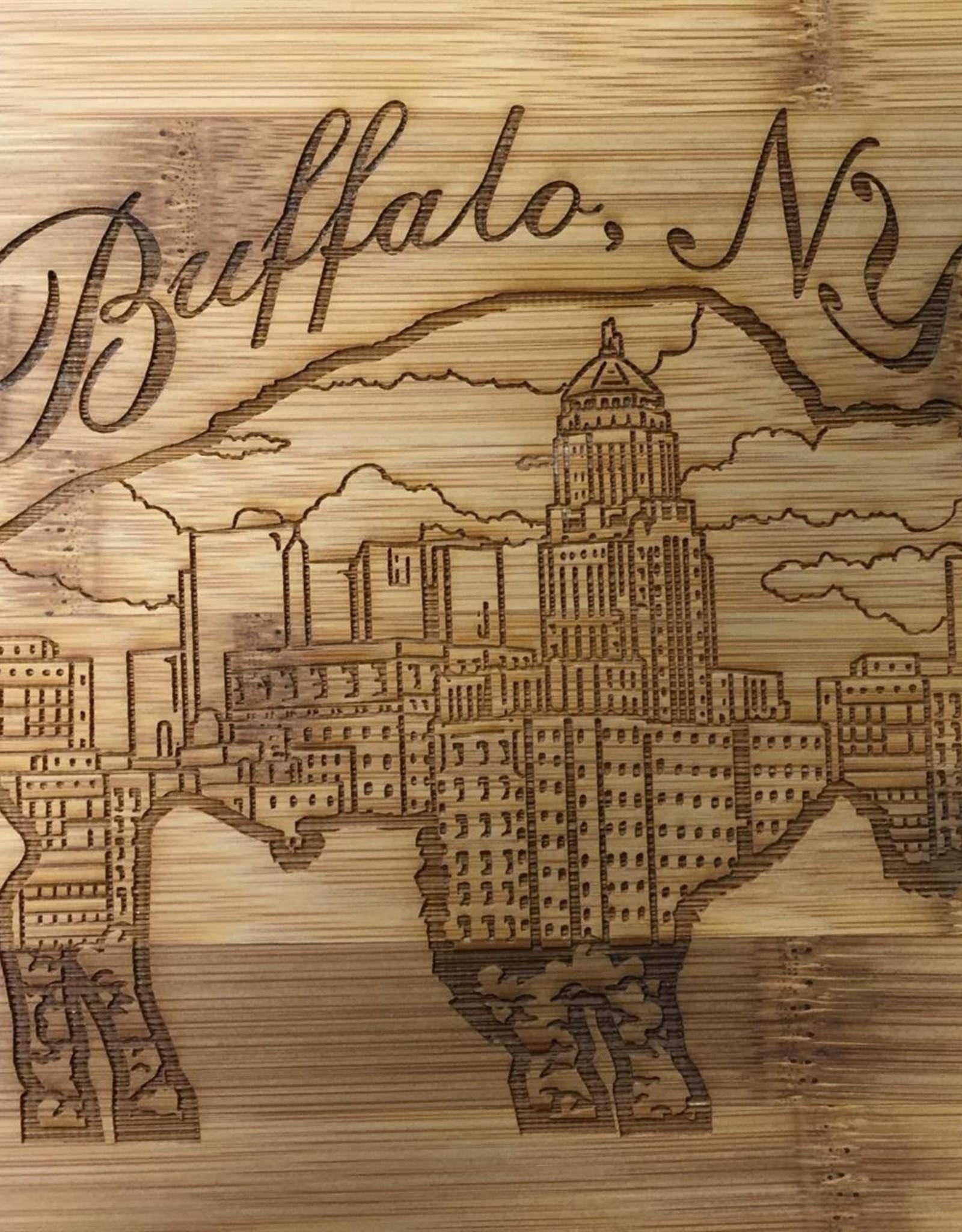 DELUXE LASERWORKS, INC. WOOD BUFFALO CUTTING BOARD-HORIZONTAL