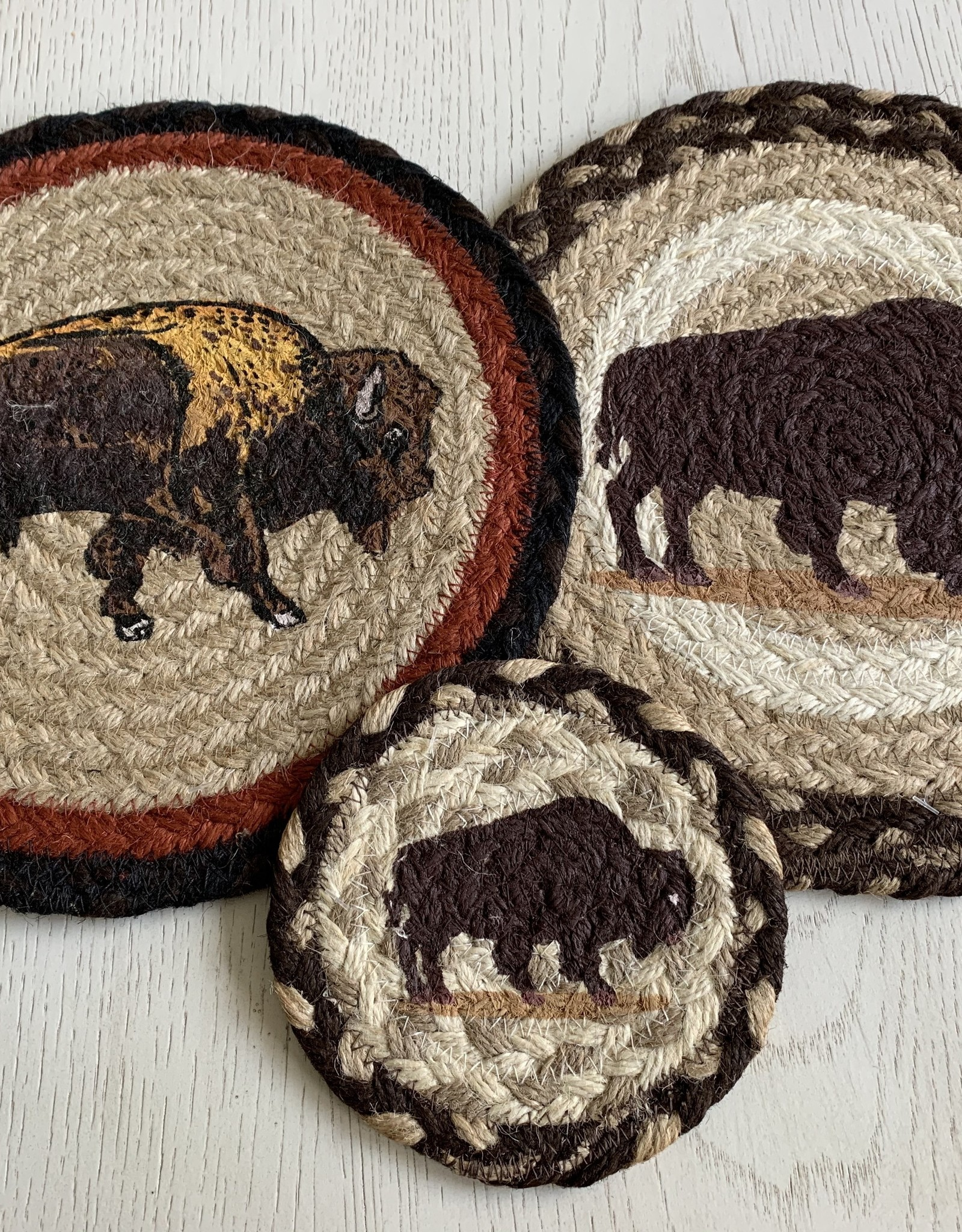 "CAPITOL IMPORTING CO Brown Buffalo 10"" Woven Trivet"