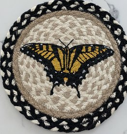 "CAPITOL IMPORTING CO Swallowtail Butterfly 10"" Woven Trivet"