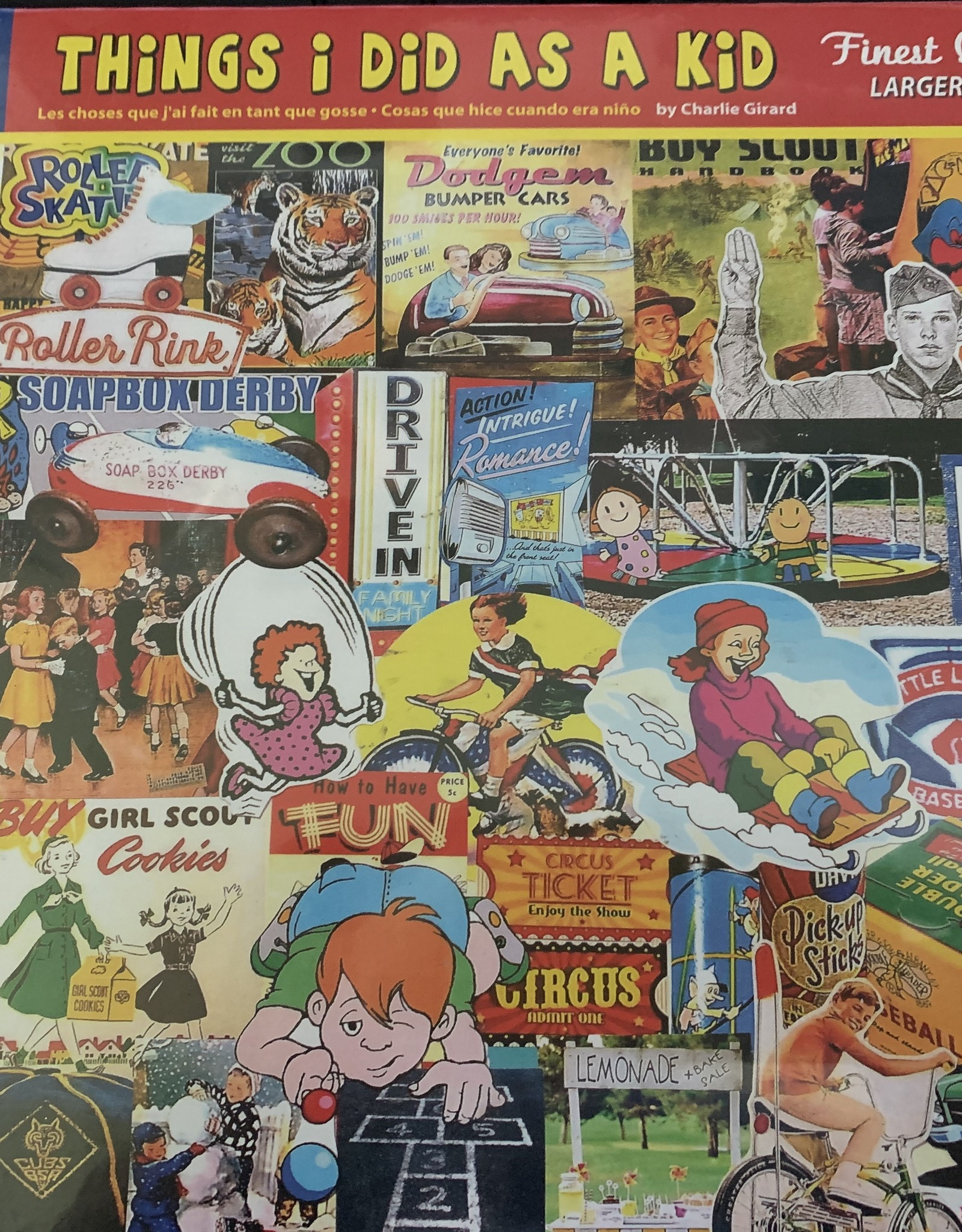 WHITE MOUNTAIN PUZZLES, INC. 1000 pc Things I Did As A Kid Puzzle
