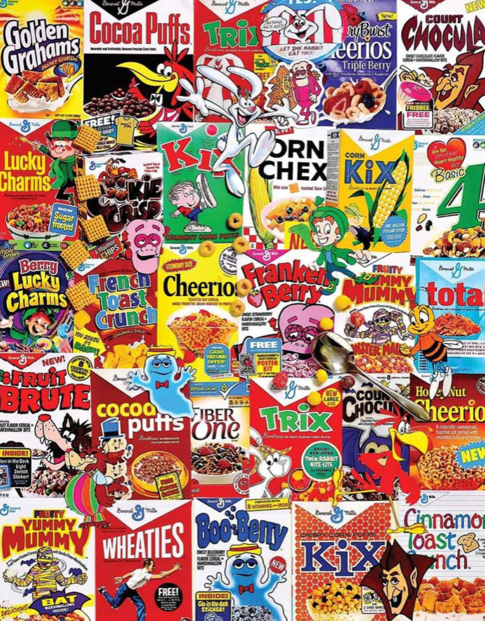 WHITE MOUNTAIN PUZZLES, INC. 1000 pc Cereal Boxes Puzzle