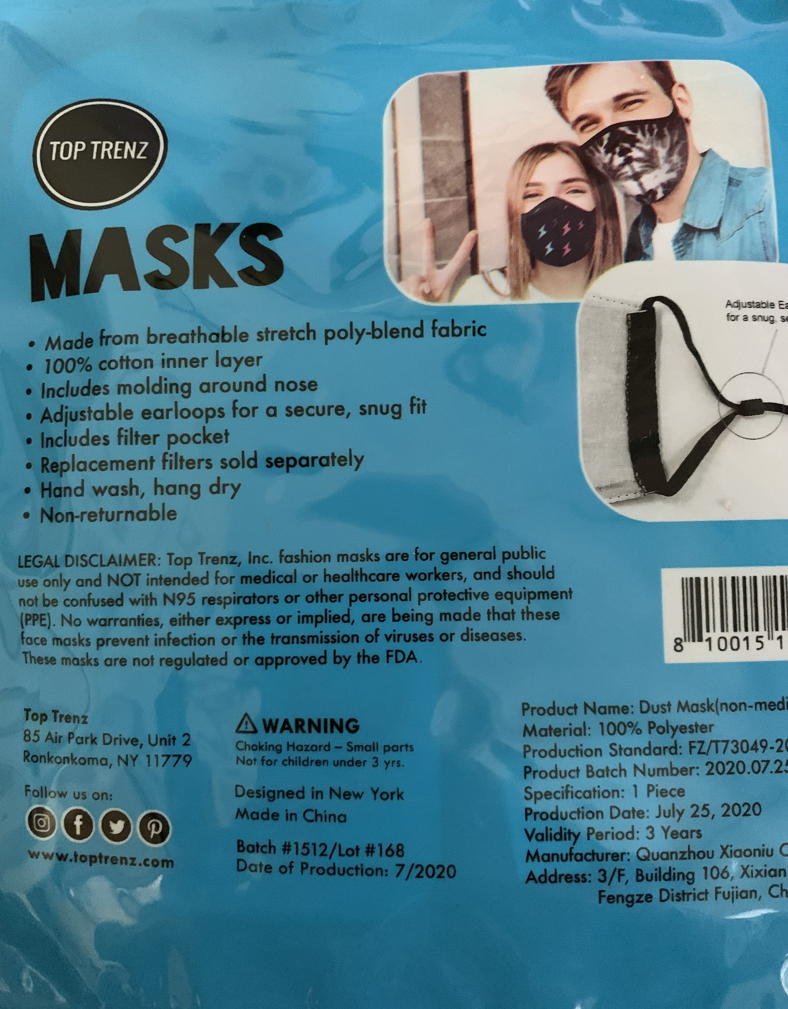 TOP TRENZ Buffalo Mask