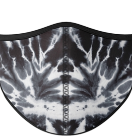TOP TRENZ Black and White Tie Dye Mask