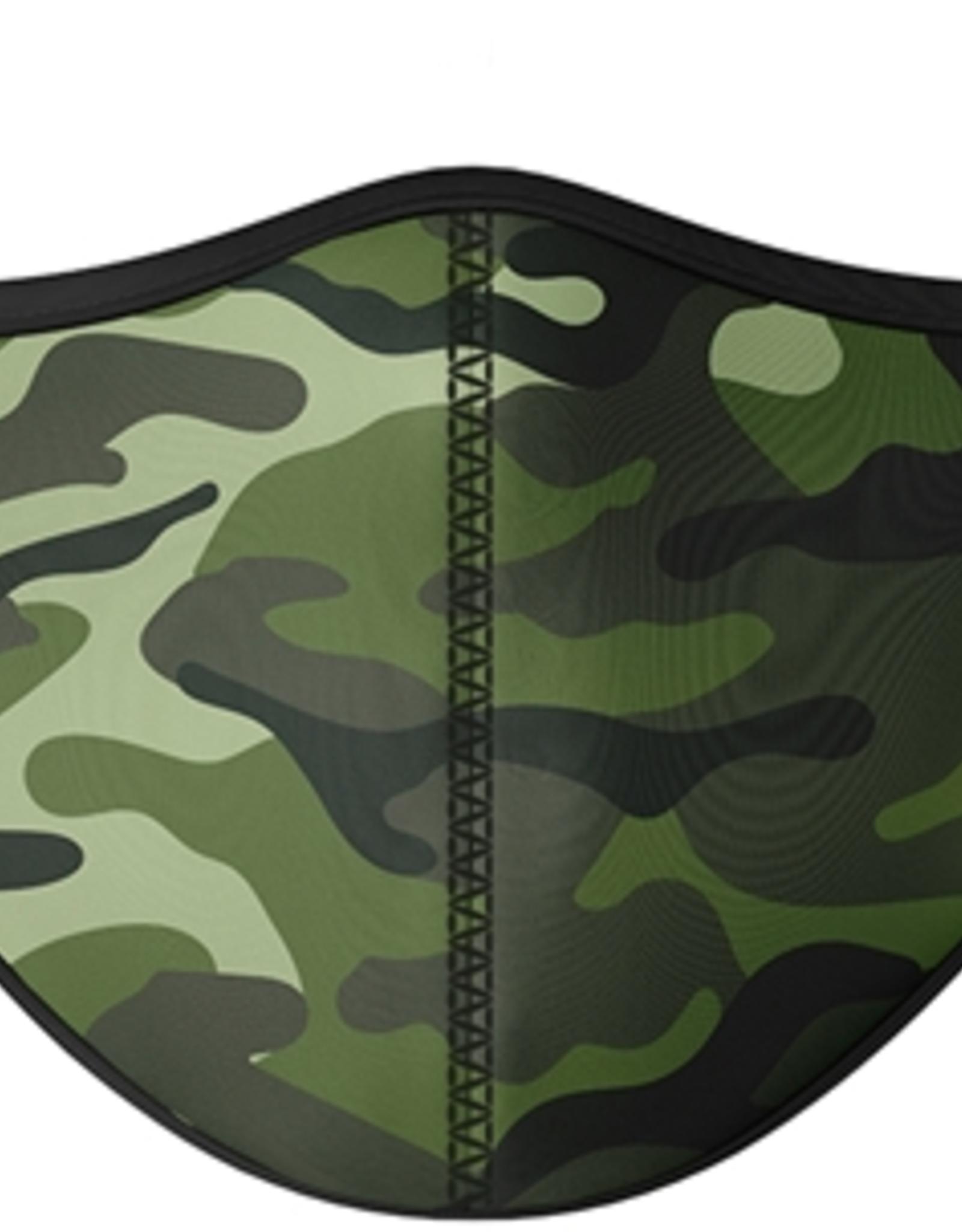TOP TRENZ Green Camo Mask